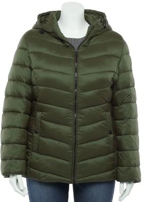 Madden-Girl Juniors' Plus Size Packable Puffer Jacket