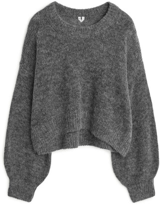 Arket Balloon Sleeve Alpaca Jumper