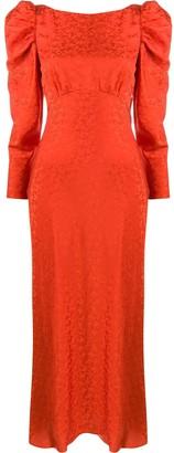 Saloni silk maxi dress