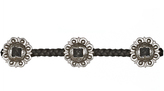 Frasier Sterling Concho Choker in Black