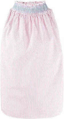 Jejia Vertical-Stripe Sleeveless Shirt