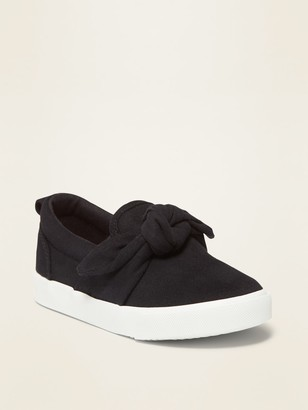 Old Navy Canvas Bow-Tie Slip-Ons for Toddler Girls