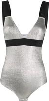 Paco Rabanne logo-jacquard metallic bodysuit