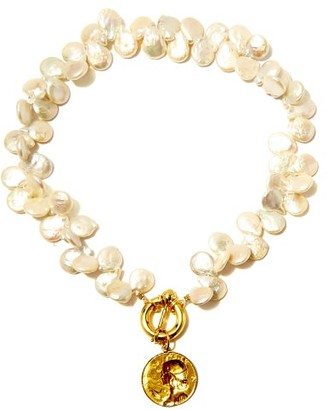 Timeless Pearly Baroque-pearl & 24kt Gold-plated Choker - Pearl