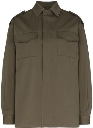 Valentino VLOGO stitched shirt jacket