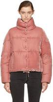 Moncler Pink Velvet Down Cercis Jacket