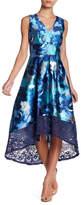 Sangria V-Neck Sleeveless Pleated Dress