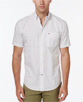 Tommy Hilfiger Men's Micro Geo Print Short-Sleeve Shirt