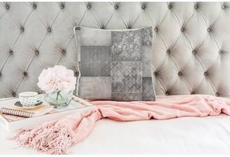 "Winston Porter Carnelian Square Pillow Cover & Insert Color: Light Gray, Size: 24"" x 24"""