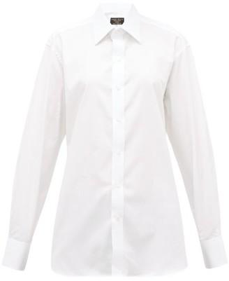 Emma Willis Stripe-jacquard Cotton-poplin Shirt - White
