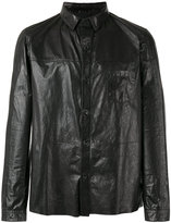 Drome zip up jacket - men - Leather - L