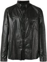 Drome - zip up jacket - men - Leather - M