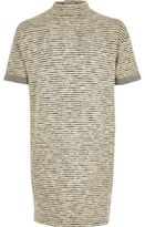 River Island Girls grey stripe sweater dress