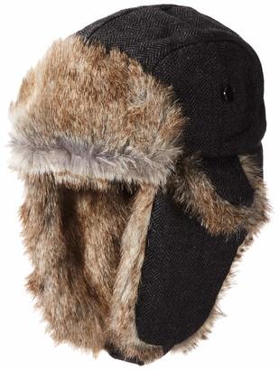 Chaps Mens Men's Herringbone Trapper Hat