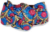 Gucci Twisted Metallic Floral-jacquard Headband