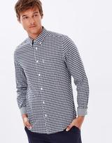 Ben Sherman Long Sleeve Dogtooth Gingham Shirt