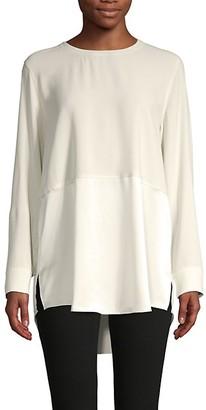 Eileen Fisher Silk Tunic Top