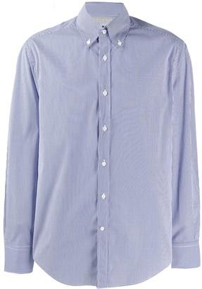 Brunello Cucinelli Striped-Print Button-Down Shirt