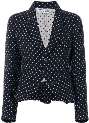 Comme des Garcons Pre-Owned polka dots fitted jacket