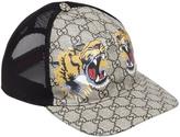 Gucci Tiger Coated Gg Canvas Baseball Hat