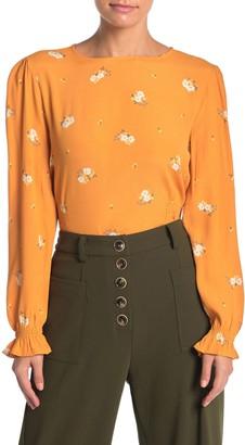 Elodie K Printed Long Sleeve Smocked Waist Top