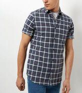 New Look Blue Check Short Sleeve Shirt