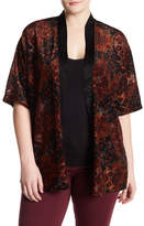 Hip Velvet Burnout Kimono (Plus Size)