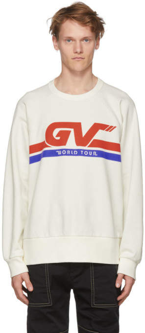 Givenchy White GV World Tour Sweatshirt