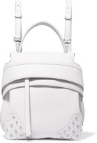Tod's Wave Mini Embellished Textured-leather Backpack - White