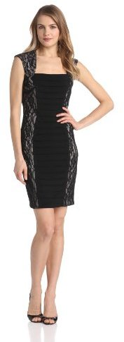 Jax Women's Jersey-and-Lace Sheath Dress