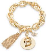 RJ Graziano B Initial Chain-Link Charm Bracelet