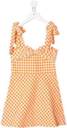 Little Bambah Gingham-Print Mini Dress