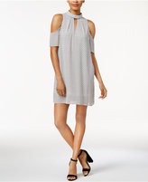 Bar III Cold-Shoulder Mock-Neck Dress, Only at Macy's
