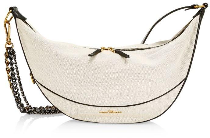 Marc Jacobs The Eclipse Linen & Cotton Saddle Bag