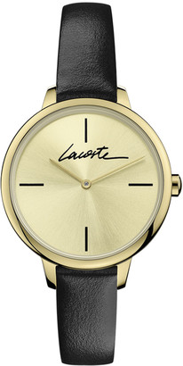 Lacoste Women's Cannes Watch with Black Leather Strap