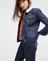 Levi's Levis Relaxed Fit Denim Jacket With Borg Collar