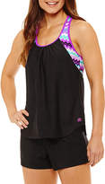 ZeroXposur Chevron Blouson Swimsuit Top