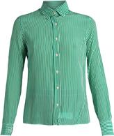 Stella Jean Striped silk-crepe shirt