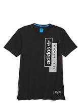 adidas Boy's Linear Overlay T-Shirt