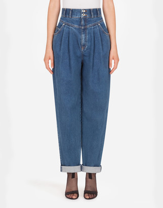 Dolce & Gabbana Denim Balloon Pants With Basque