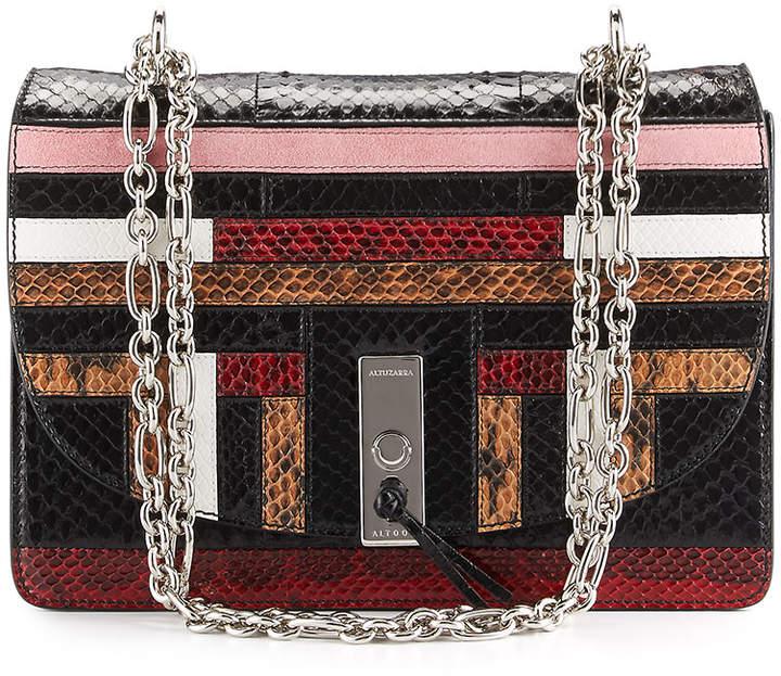 Altuzarra Patchwork Snakeskin Chain Shoulder Bag, Multi