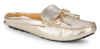 Saks Fifth Avenue Bow Leather Mules