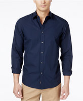 Michael Kors Men's Tailored-Fit Poplin Long-Sleeve Shirt