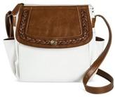Bueno Women's Bueno Braided Crossbody Handbag - White/Brown