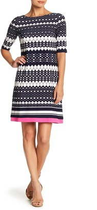 Eliza J Printed Slim Dress