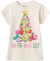 "Mighty Fine Girls 7-16 Shopkins ""On The Nice List"" Graphic Tee"