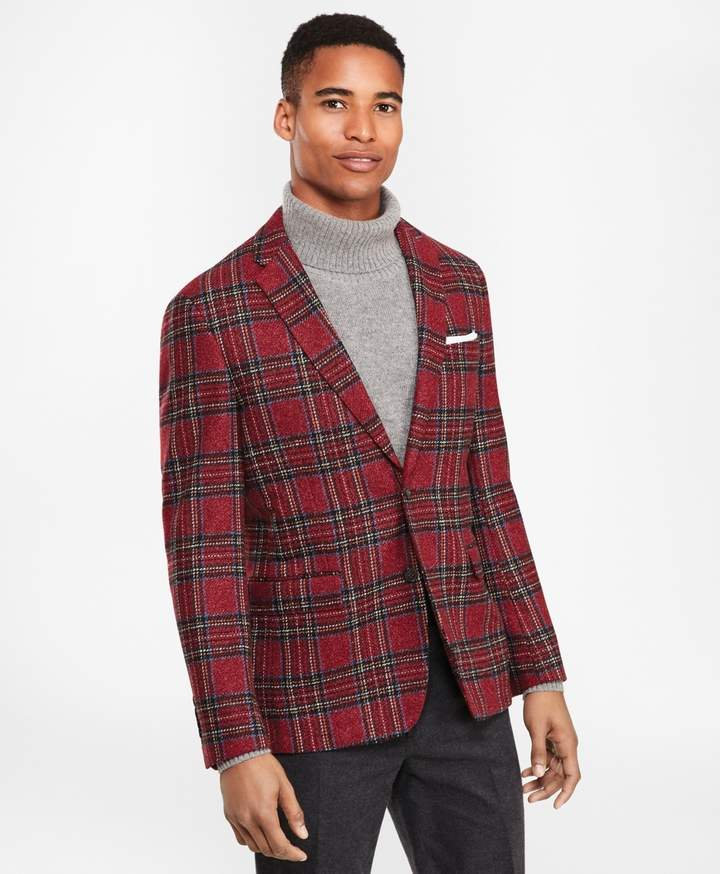 Brooks Brothers Wool-Blend Two-Button Tartan Sport Coat
