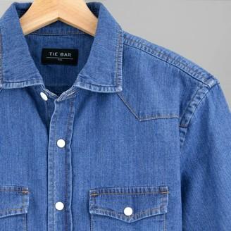 Tie Bar Western Denim Blue Casual Shirt