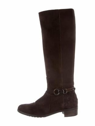 Aquatalia Nubuck Riding Boots Brown