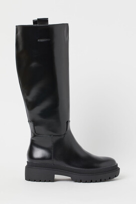H&M Chunky-soled Boots - Black